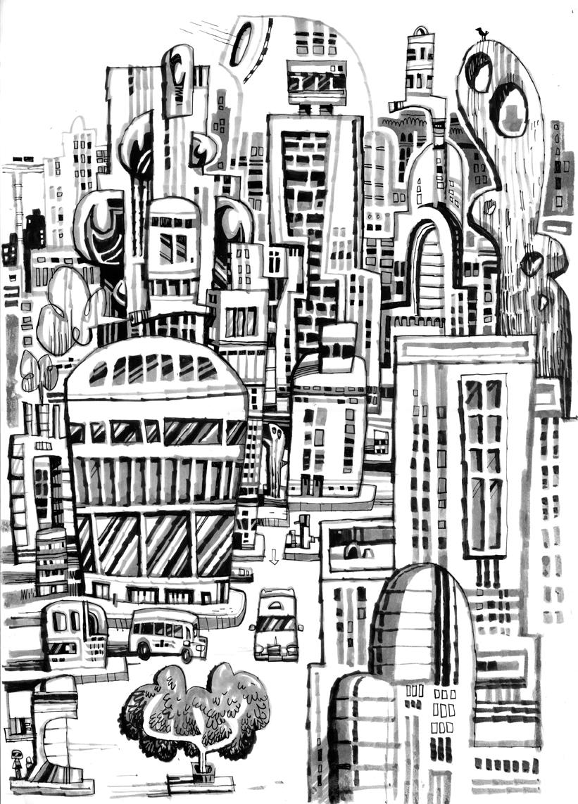 Drawing Block Apartment Blocks