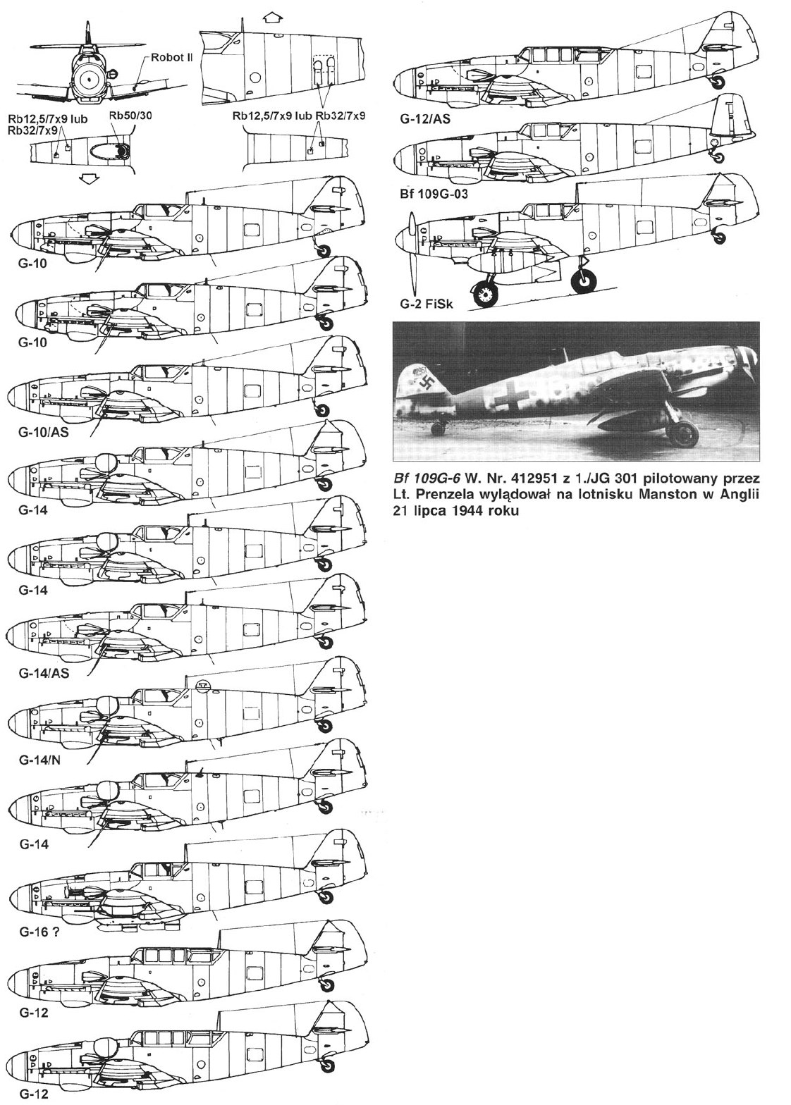 German Aircraft Of Wwii Bf 109 G Series