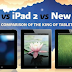 iPad VS iPad 2 VS New iPad Infographic