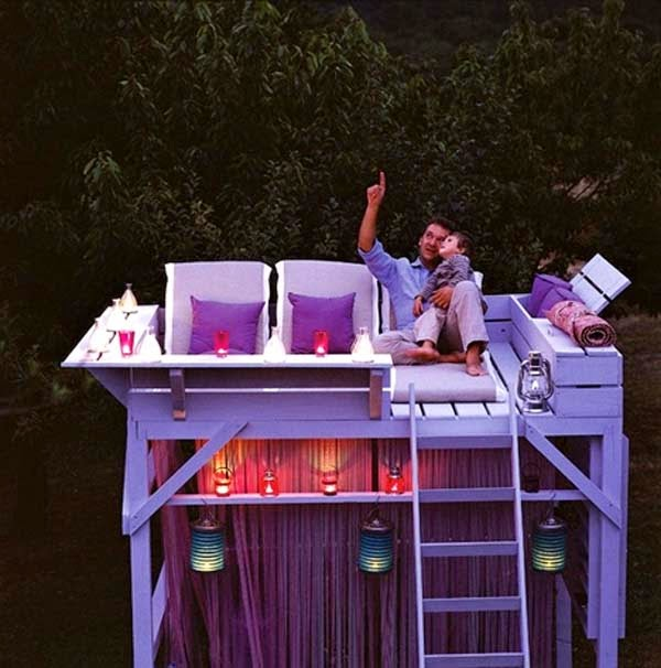 5.) Convert an old bunk bed into a stargazing lounge. - These 29 Do-It-Yourself Backyard Ideas For Summer Are Totally Awesome. Definitely Doing #10!