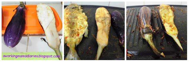 resep ikan bakar, ikan bawal bakar, resep terong bakar