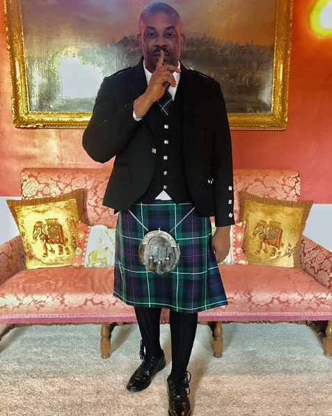 Don Jazzy Shares Experience After Rocking a Skirt to An Event