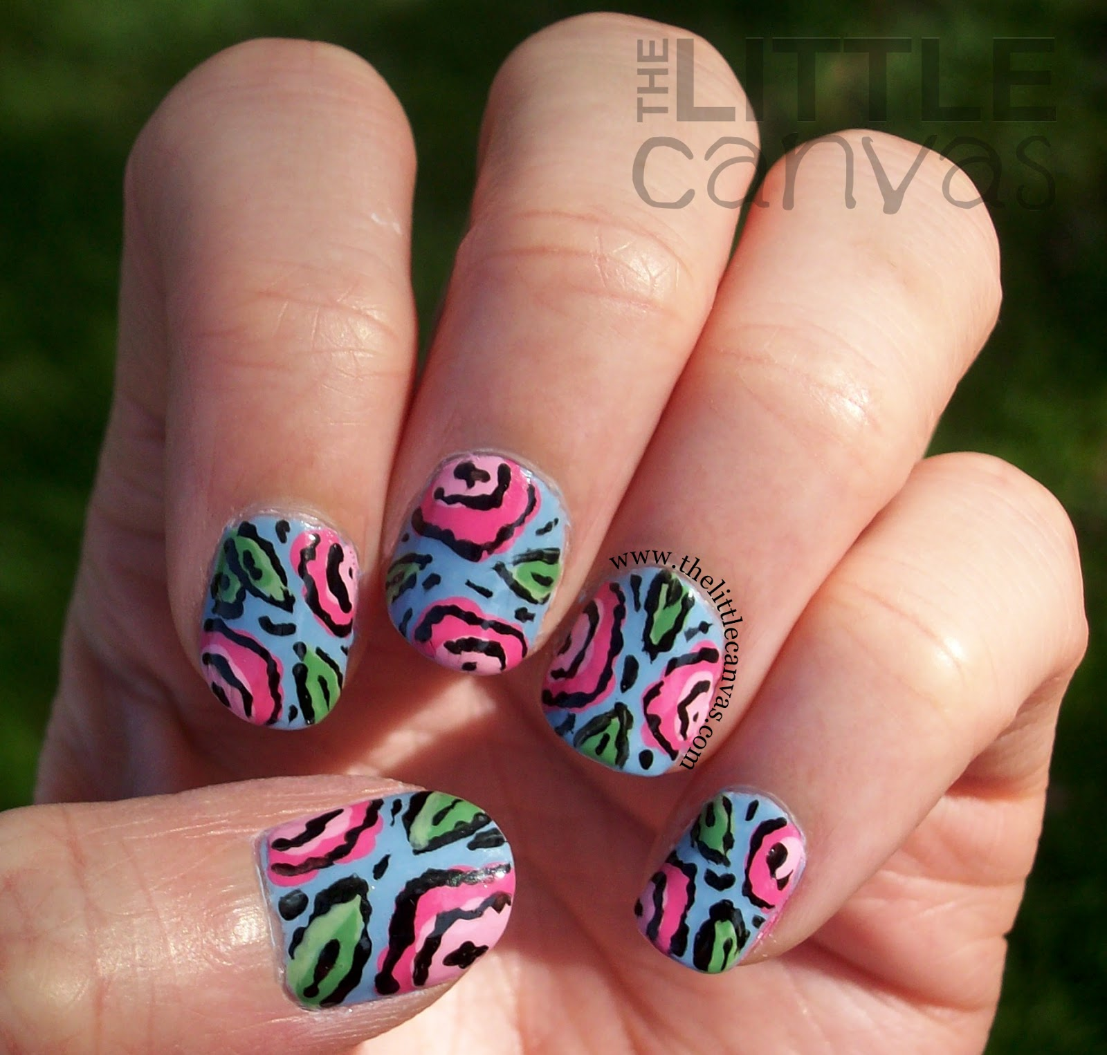 Nail Art Blue Floral: Blue-Ming (get It) Floral Nail Art Inspired By Pinterest