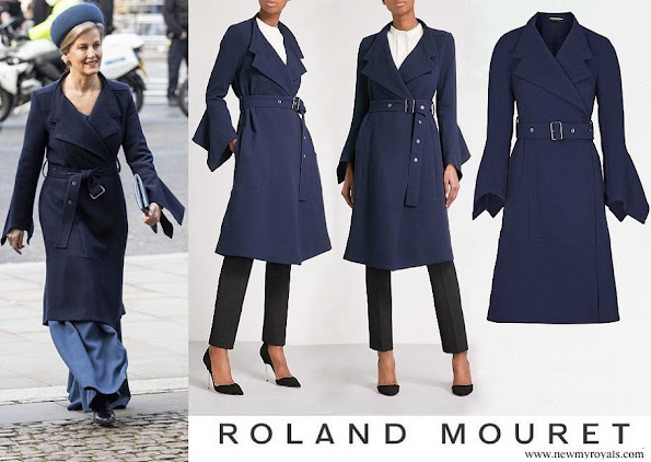 Countess of Wessex wore Roland Mouret Millington wool crepe coat