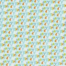 Objetos en Celeste del Clipart de Animalitos Celebrando un Cumpleaños.