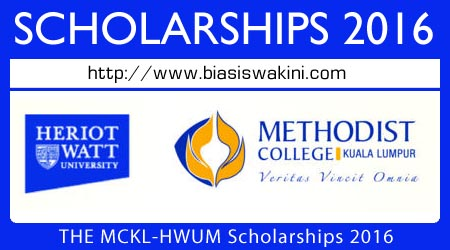 THE MCKL and HWUM Scholarships 2016