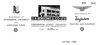 S H Newsome & Co Ltd letterhead from 1948
