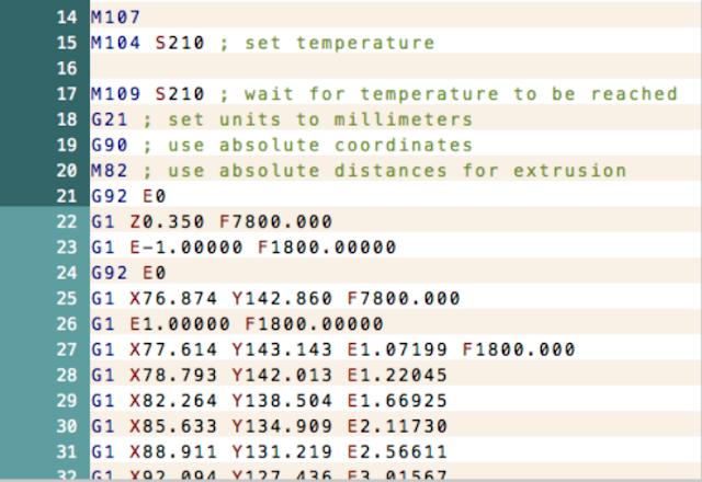 Ejemplo de G-Code imagen