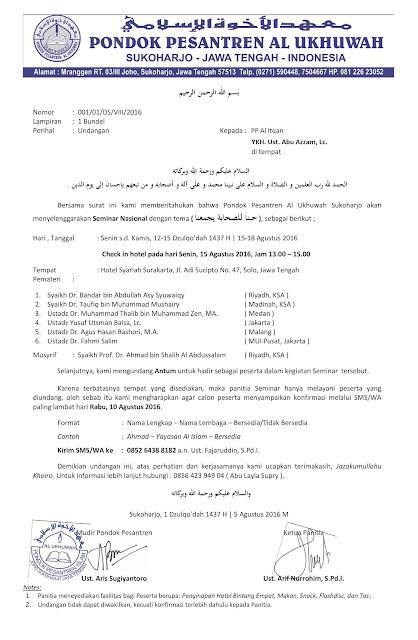contoh surat undangan seminar nasional