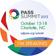 Speaking at PASS Summit 2013