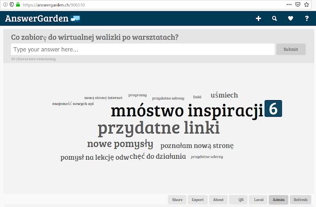informacja zwrotna blog polonisty ansewr garden