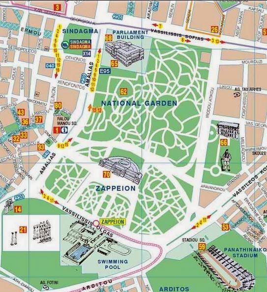 mapa syntagma atenas