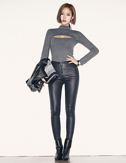 e33cdec9db Dabagirl] Super Skinny High Waist Leather Pants   KSTYLICK - Latest ...