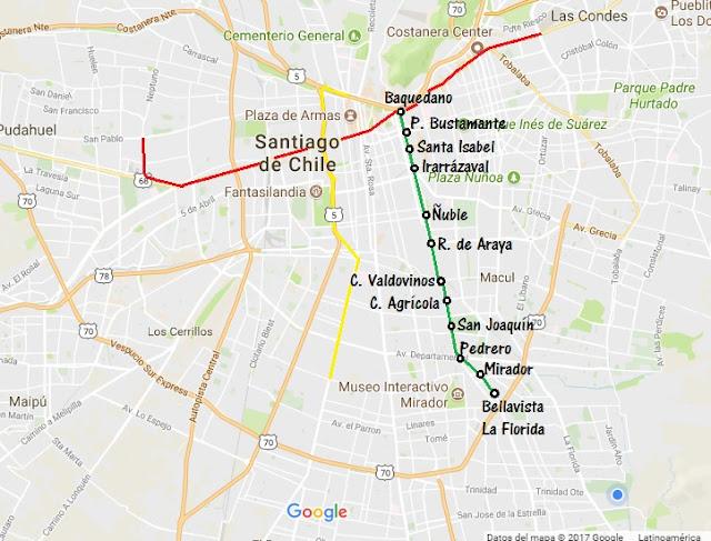 Guia Todo De Linea 5 Metro De Santiago