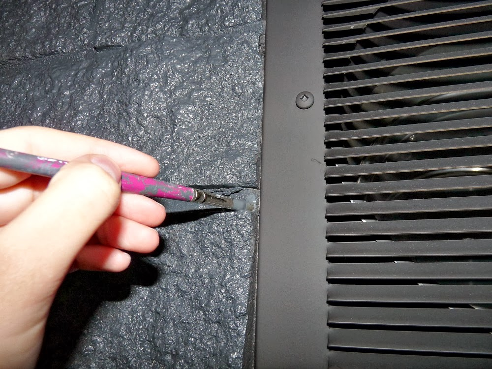 How to paint around fireplace vents