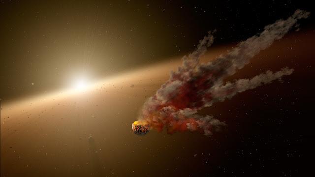 Hình đồ họa KIC 8462852, ngôi sao có độ sáng thay đổi thất thường trong những năm qua. Credit: NASA/Celtech.