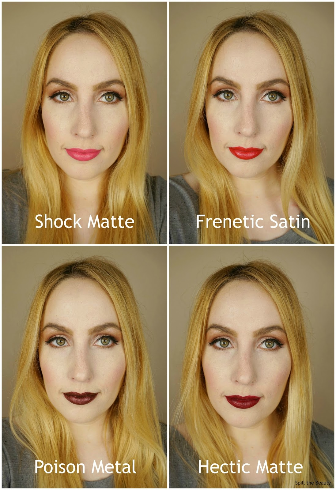 dior rouge dior liquid lipstick frenetic matte poison metal hectic matte shock matte swatches review