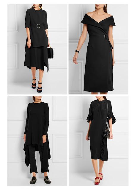 Черная одежда необычного кроя