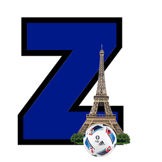 Alfabeto Futbol Francia. France Fubtol Letters.