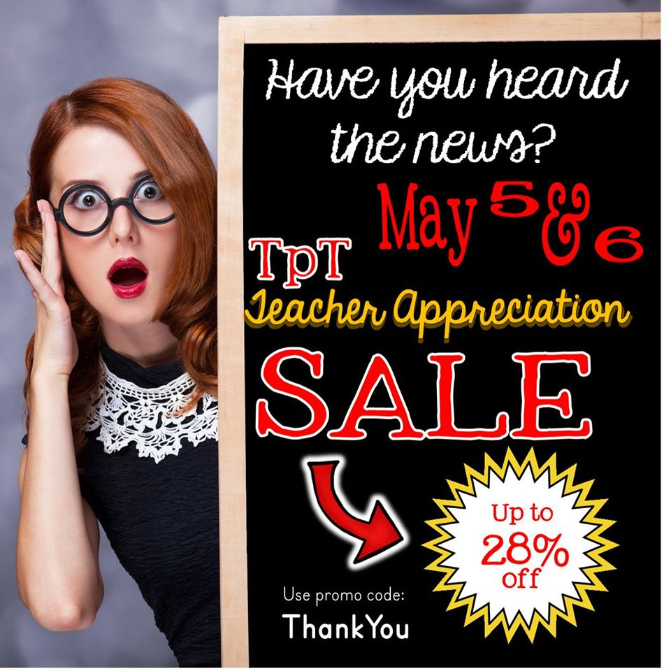 Fern Smith's Classroom Ideas TeachersPayTeachers Teacher Appreciation Sale is Still Going Strong!