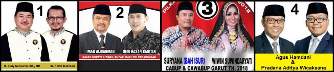 Empat pasang calon Bupati dan wakil Bupati Kabupaten Garut 2018