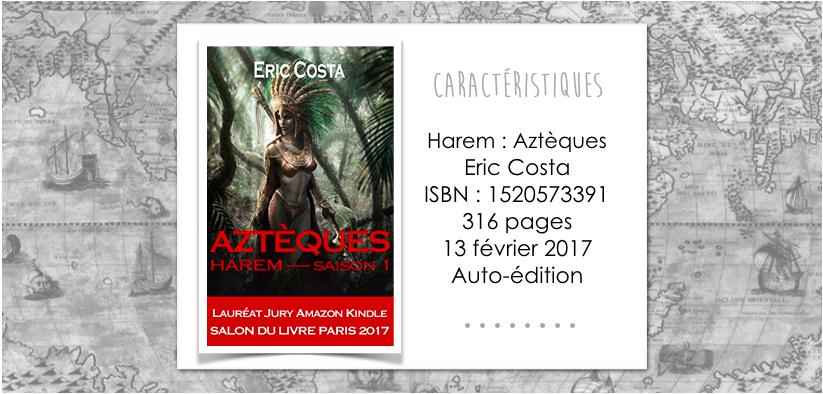 Couverture du livre Harem : Aztèques de Eric Costa