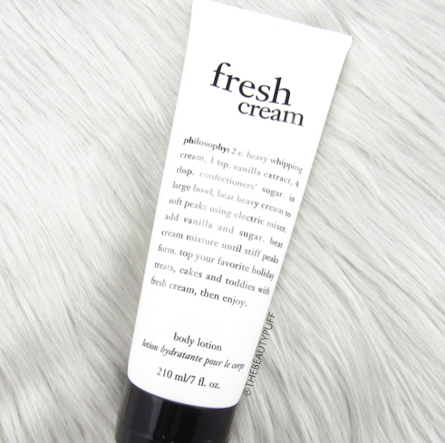 philosophy fresh cream - the beauty puff