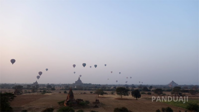 Breathtaking view in Bagan with the Balloon