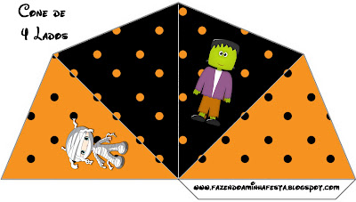 Frankenstein and Friends:  Free Printables, Party Favor Boxes.