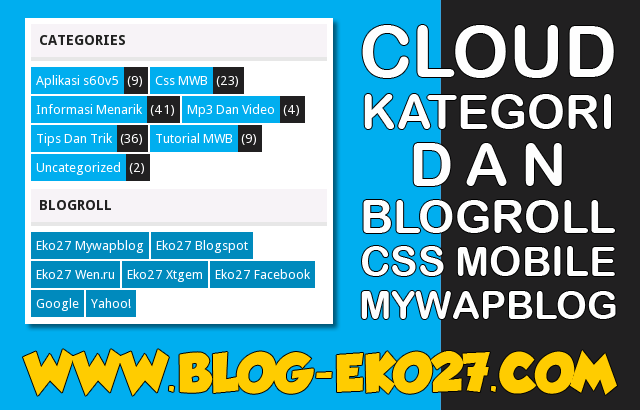 Cloud Kategori dan Blogroll Mywapblog