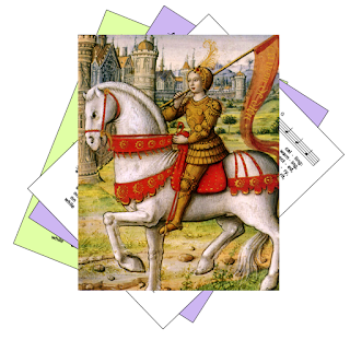 Hymns for feast of Joan of Arc, patron saint of France and solders, riding a horse into battle