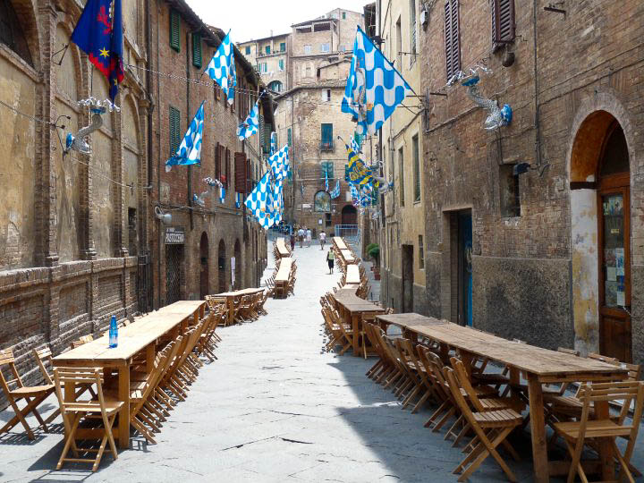 Ready for a Street Party, Siena, Tuscany, Italy