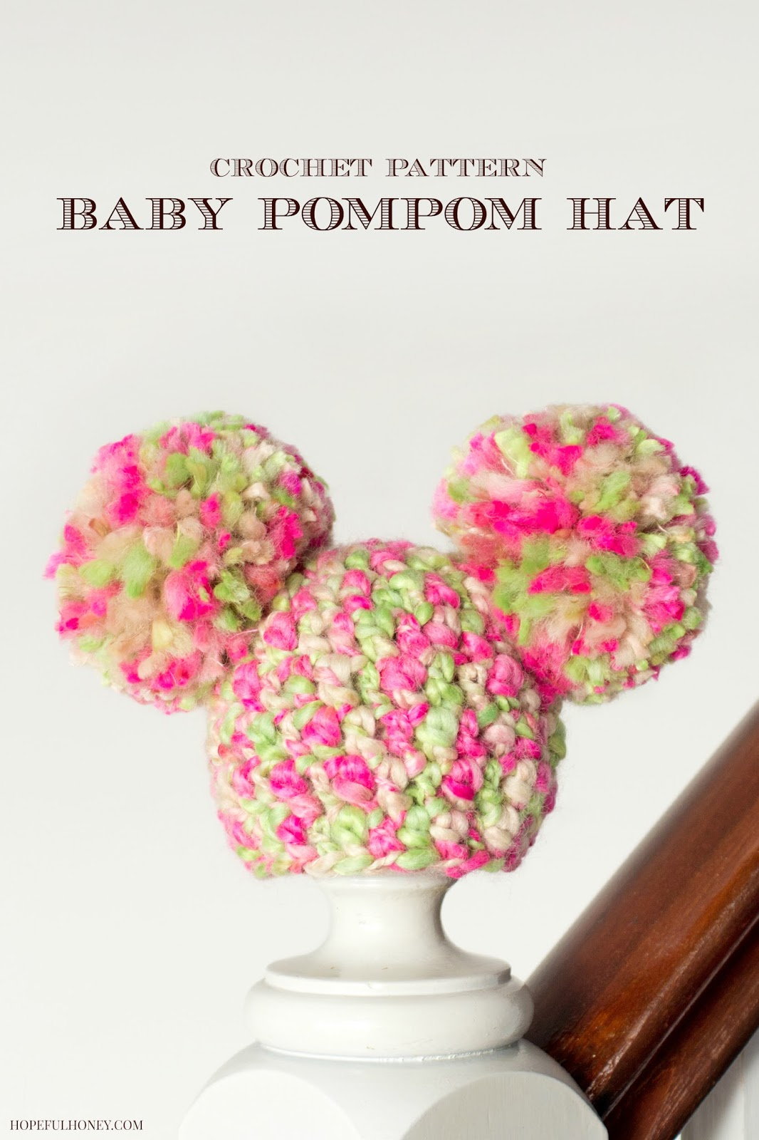 Crochet Newborn Pom Pom Hat Pattern : Hopeful Honey Craft, Crochet, Create: Newborn Fairy ...