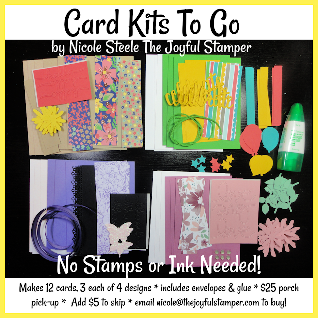 Card Kits To Go - no stamping or ink required - all inclusive - Mother's Day, Thinking of You, Thank You, Birthdays and other celebrations