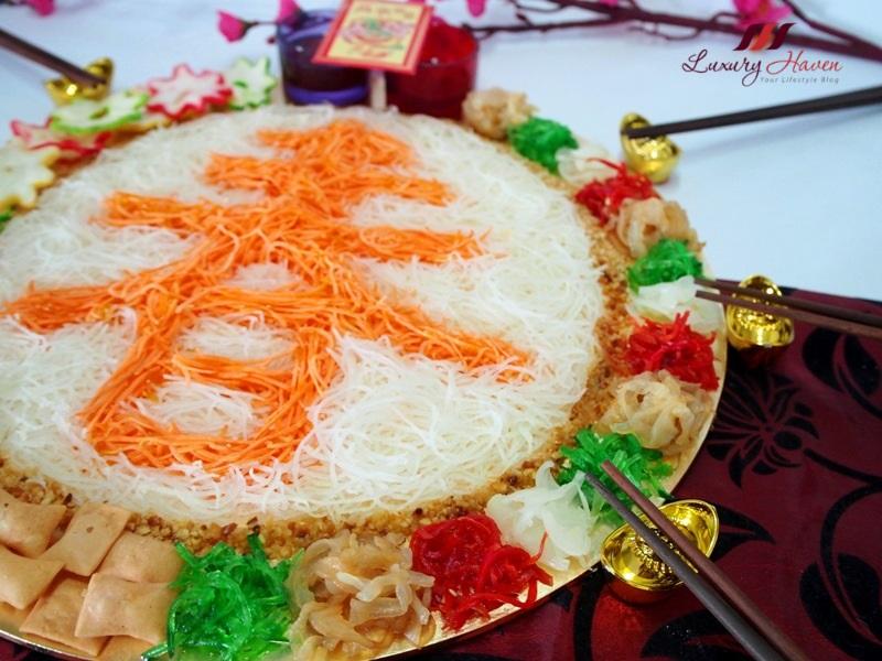 chinese new year creative dishes jellyfish yusheng