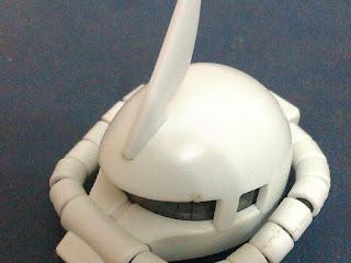 Zaku Head 3D Printed depois