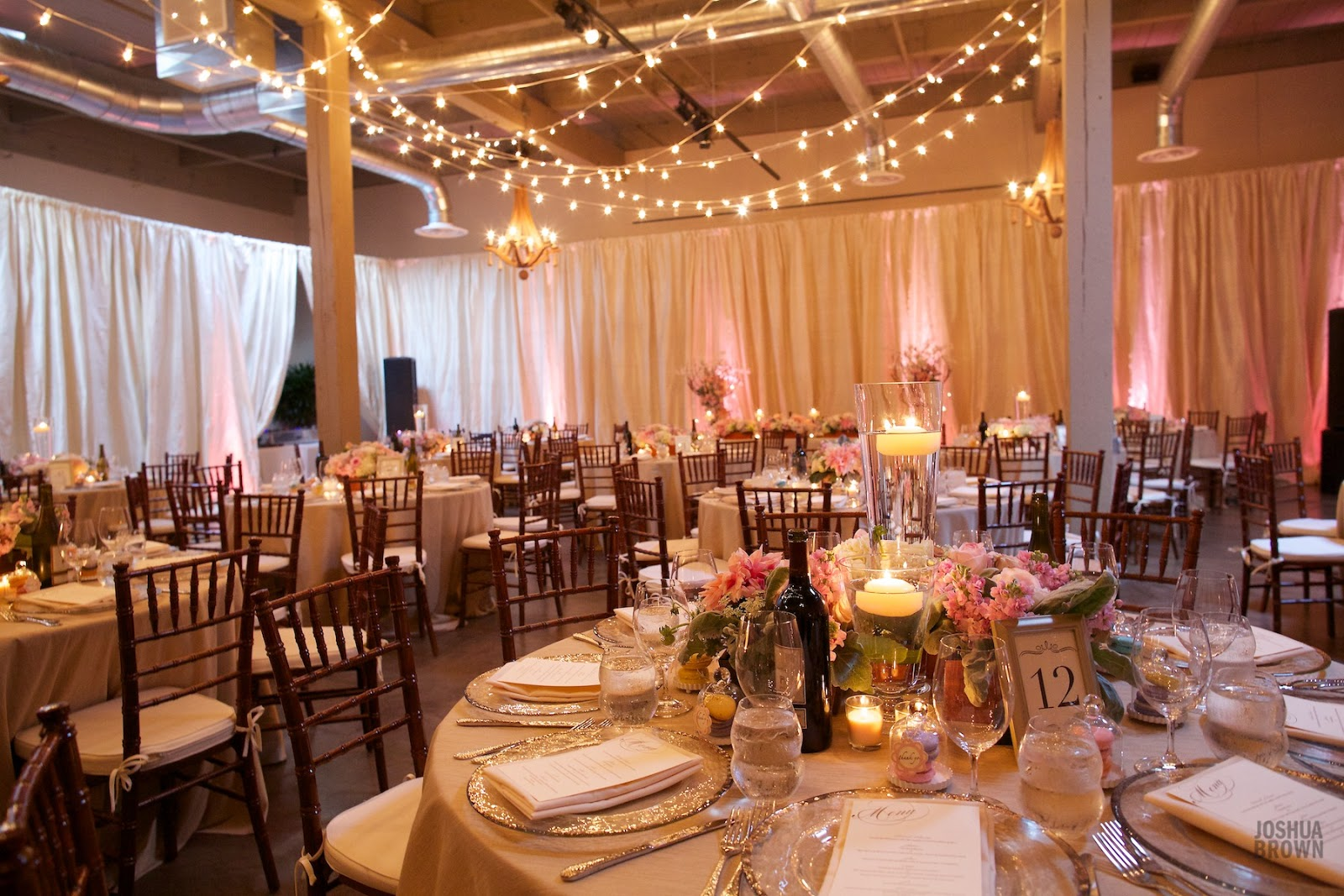 Wedding Reception Lighting Basics: A Romantic Vintage Wedding At The Foundry