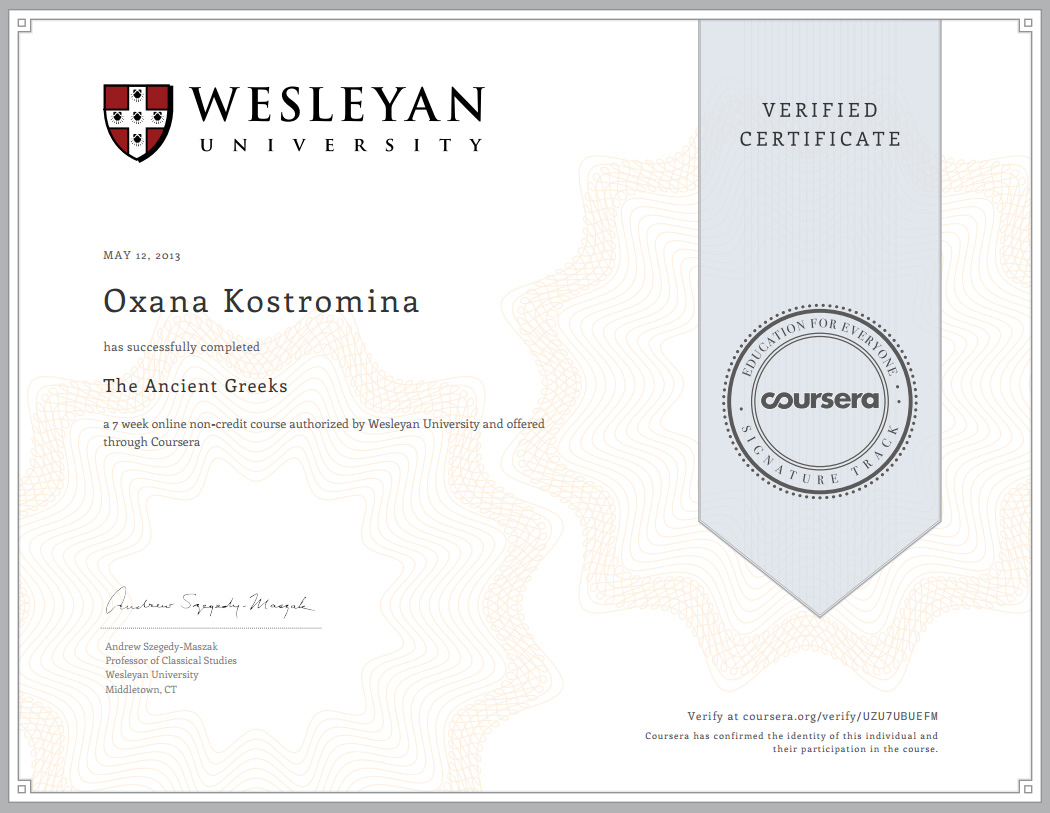 Academic writing coursera certificate