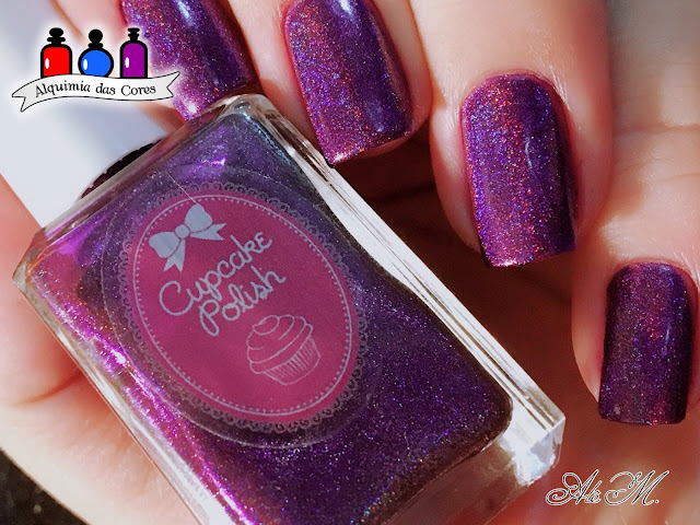 Cupcake polish, Berry Good Looking; Be More Pacific, Roxo, Magenta, Turquesa, Azul, Alê M 2018
