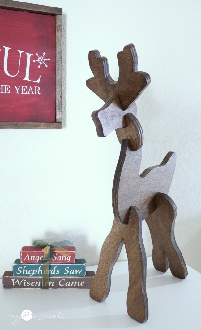 reindeer puzzle for the kids