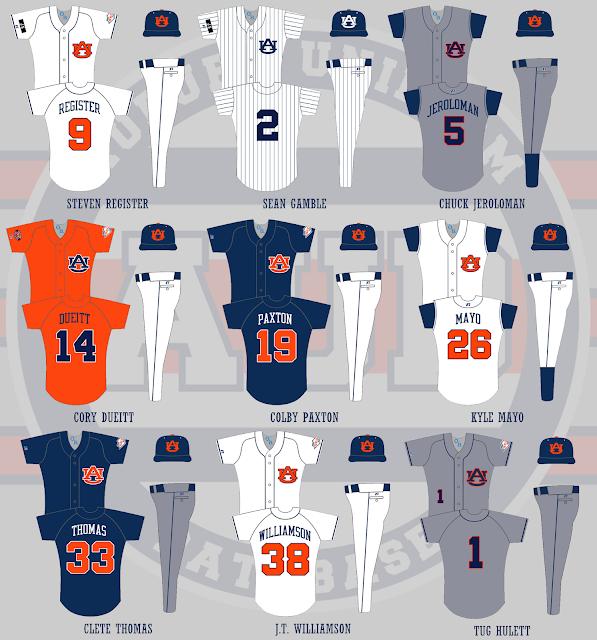 auburn baseball 2004 uniforms