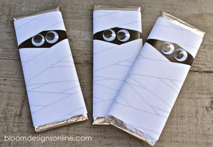 Mummy Candy Bar Wrappers