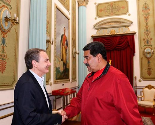 Rodríguez Zapatero se reunió con Maduro en Miraflores para reactivar el diálogo