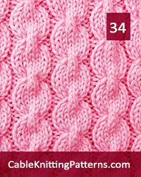 Cable Knitting 34. Mutilple of 16 stitches, plus 10. After you get the hang of making the cables, the stitch pattern can easily be memorized.