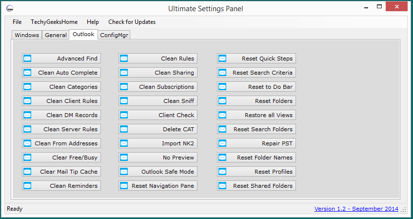 Ultimate Settings Panel - Version 1.2 Released 2