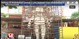 Making Of Khairatabad Ganesh  Live Updates From Khairatabad