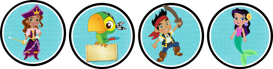 Jake And The Neverland Pirates Cake Topper Kit