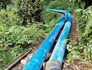 pipelines from Rateychu river to gangtok