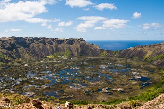 Volcan Rano Kau. Historia de la Isla de Pascua.
