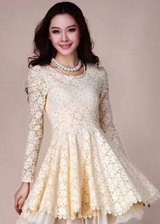 Model Dress cantik Lengan Panjang Anak Remaja 2015